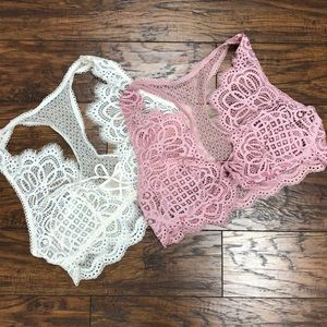 NEW Victoria's Secret (2) Bralettes Large